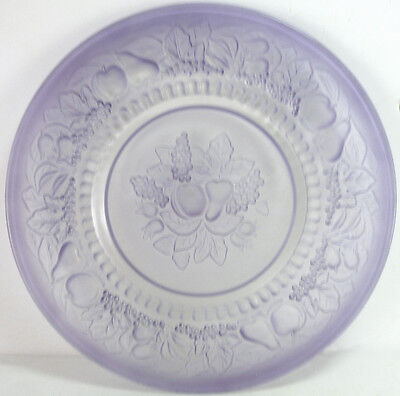 "Westmoreland Glass Crystal Mist Lilac Case Della Robbia 8.75"" Dinner Plate As-Is"