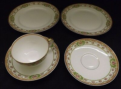 Theodore Haviland Limoges France Cup 2 Saucers 2 Bread Plates