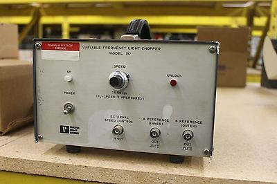 Eg&g Princeton Applied Research Variable Frequency Light Chopper Model 192