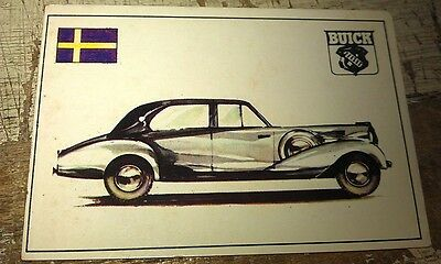 1938 BUICK  NORDBERG SWEDEN  - Famous Cars by Top Sellers Ltd UK Trade Card