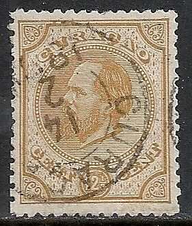 Curacao 1873 NVPH 5G P.12 1/2 small holes  CANC  VF