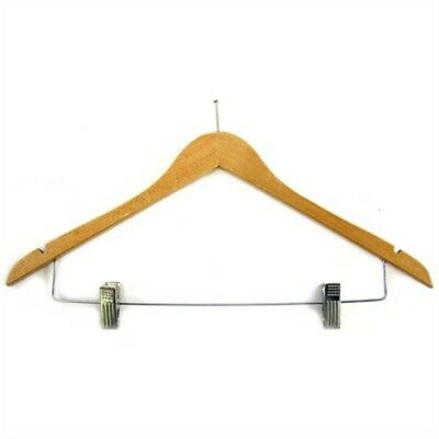 Lot Of 10  Executive Wood Suit Hangers With Clips