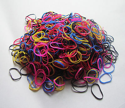 1000pcs Ponytail Elastic Hair Rubber ring band wholesale girl baby doll dog mix