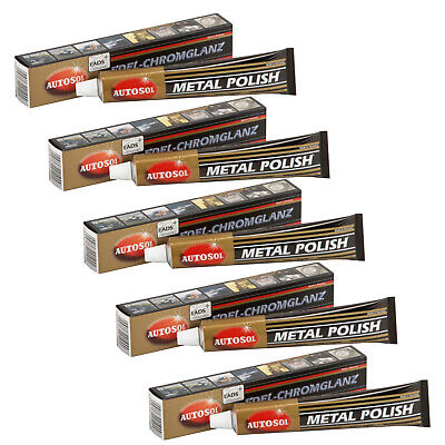 5x 75ml Autosol Dursol Chrompolitur Metallpolitur Politur metal polish
