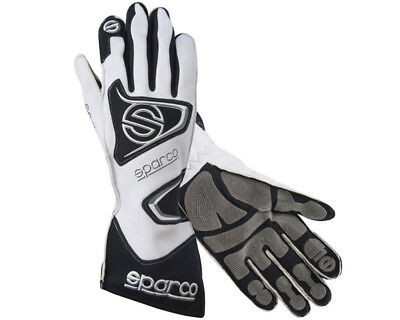 Sparco Tide K-9H White Racing Gloves - Size Medium / 10 - For Kart, Motor bike