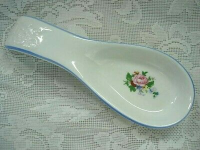 Vintage Collectible TABLETOPS UNLIMITED Victorian Rose Design Spoon Rest