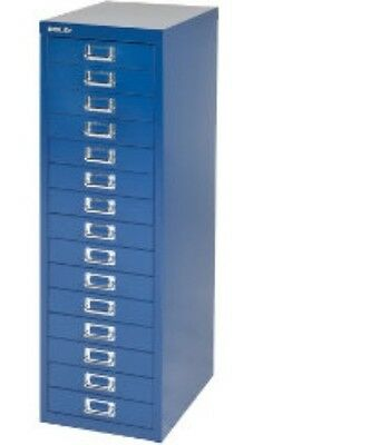 Bisley - 15 Multi Drawer Filing Cabinet - Brand  New - Blue