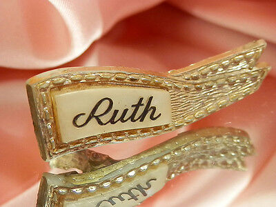 Very Pretty Vintage 1940's Celluloid Ruth Hair Clip  2082je