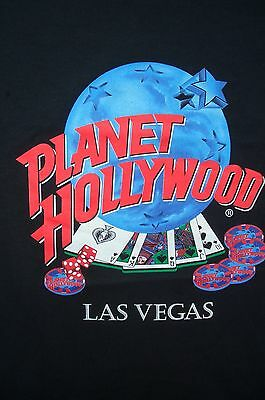 Planet Hollywood Las Vegas Black Tee T-Shirt Royal Flush L 50-52
