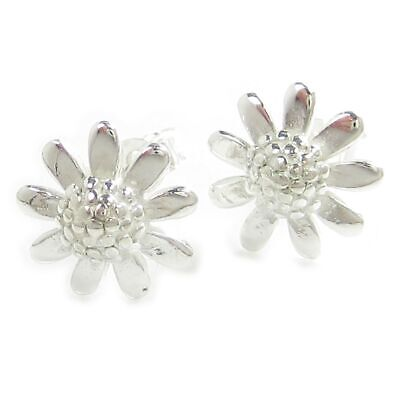 Flower sterling silver stud earrings .925 x 1 pair flowers studs WSSE502