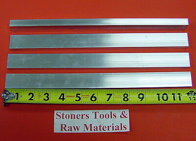 "4 pieces of 1/4"" X 1"" ALUMINUM 6061 T6511 SOLID FLAT BAR 12"" long New Mill Stock"