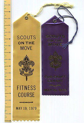 TWO 1979 Award Ribbons - Scouts on the Move