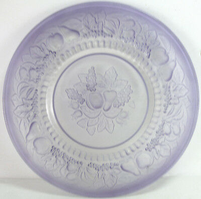 "Westmoreland Glass Crystal Mist w/ Lilac Case Della Robbia 8.75""d Dinner Plate"
