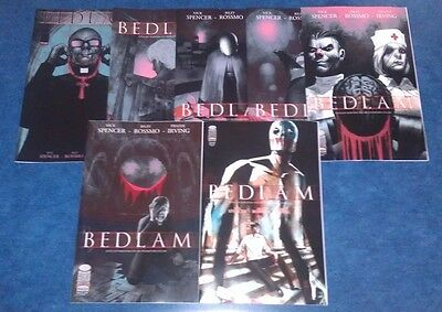 BEDLAM #1 1st & variant 2nd print 2 3 4 5 6 set (7) 1MAGE COMIC lot NICK SPENCER