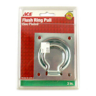Ace Flush Ring Pull Zinc Plated 3 inch 5293824 NIP