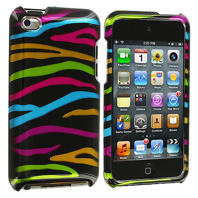 Colorful Zebra Black Hard Skin Cover Case Accessory for iPod Touch 4th Gen 4G 4