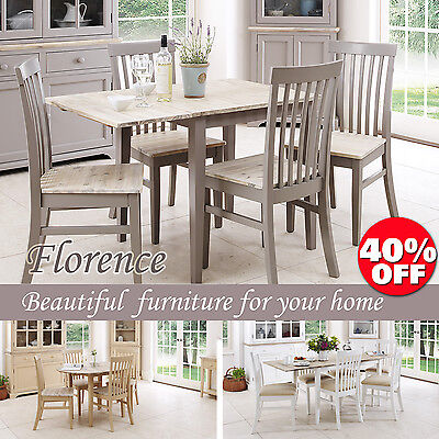 FLORENCE,Stunning rectangle extended kitchen dining table and chairs,sits upto 4