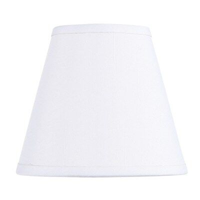 Livex 5 in. Wide Clip On Chandelier Hardback Shade, Off White Fabric, White Insi