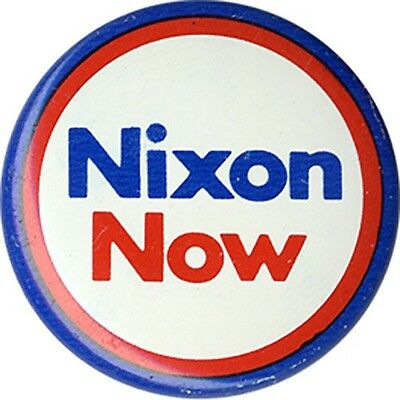 Official 1972 Richard Nixon Campaign Logo Button (1648)