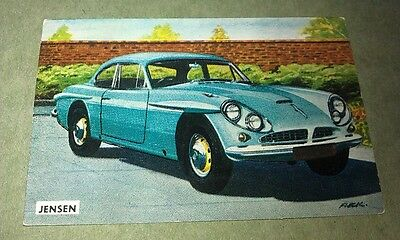 1963 JENSEN CV8  -  Sanitarium Weetbix New Zealand Swap Card - RARE