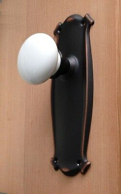 Single Estate Type Sea Shell French Door Ceramic Porcelain Knob-Surface Mount