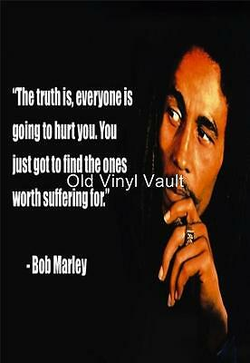 Bob Marley poster print with quote A3 size