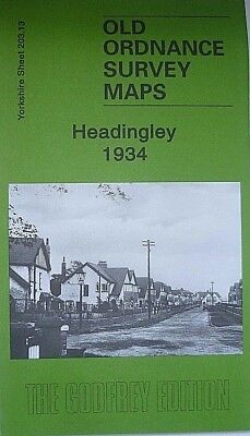 Old Ordnance Survey Maps Headingley near Leeds Yorkshire 1934 Godfrey Edition