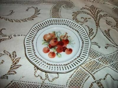 chic hp delicate fruit plate germany shabby antique cad picclick ca. Black Bedroom Furniture Sets. Home Design Ideas