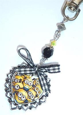 NEW IN ~  Despicable Me Minion Bag Charm/Keyring ~ matching items