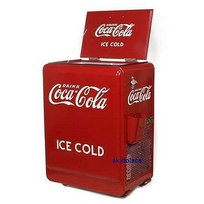 COCA COLA RETRO 1930's RED REFRIGERATOR COKE MACHINE FRIDGE COOLER ICE BOX - NEW