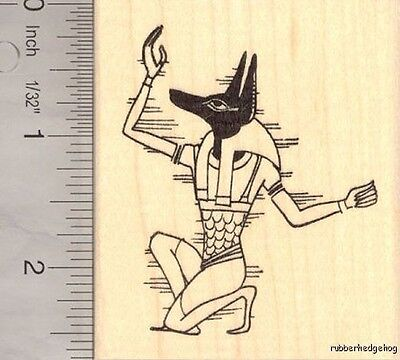 Anubis, Jackal headed Egyptian God Rubber Stamp K13704 WM