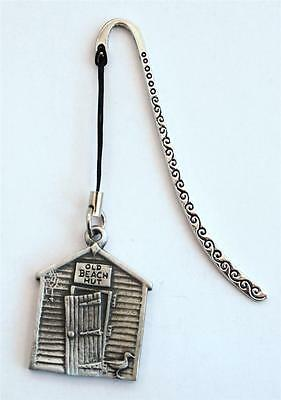 Old Style Beach Hut Bookmark in Fine English Pewter, Handmade, Gift Boxed (H)