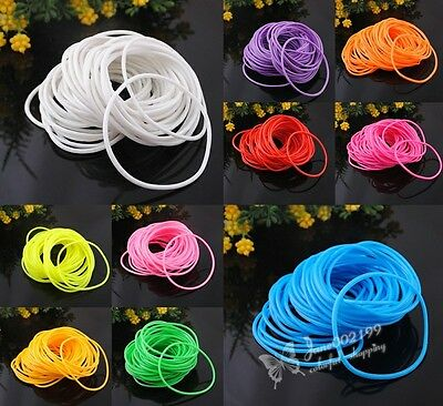 20pcs U pick Lots Mix color Rubber Sport Wristband Cuff Hoop Bracelet E757