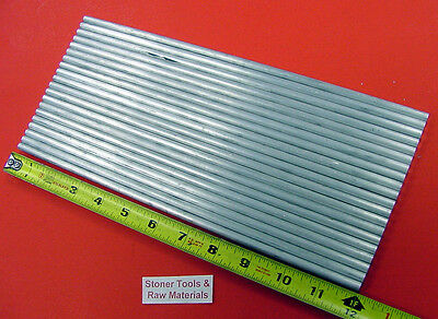 """20 pieces 1/4"""" ALUMINUM 6061 T6511 Solid ROUND ROD 12"""" long .25"""" Lathe Stock"""