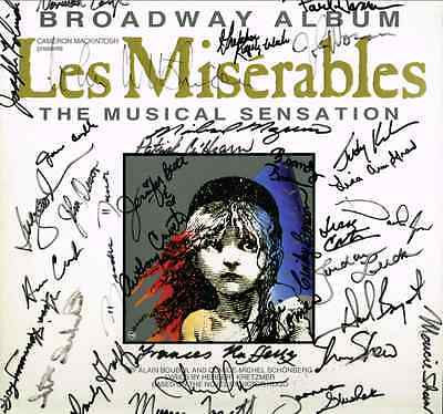 Les Miserables OrIginal Cast SIGNED Colm Wilkinson Terrence Mann Vinyl Record