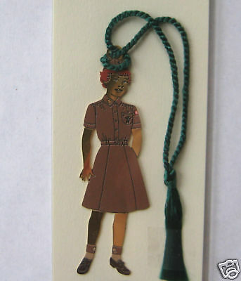 Girl Scout 1956 BOOKMARK Brownie Uniform Replica GIFT Christmas Ornament
