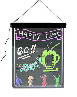 "Neon Lighted Board LED Flourescent Signs Message Board Chalkboard '32"" X 24"""