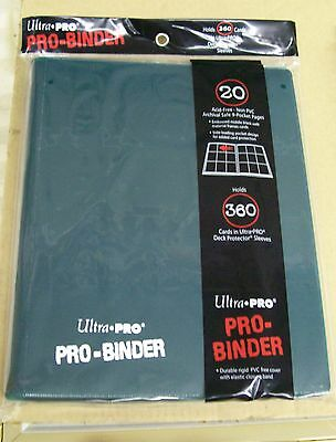 Ultra Pro 9 Pocket Dark Green Pro-Binder hold 360 Magic Pokemon cards in sleeves