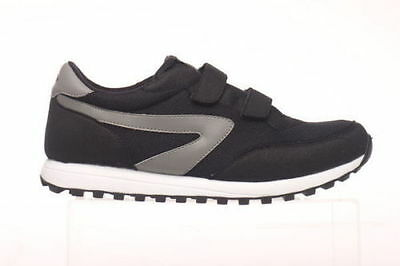 Mens Shoe Dunlop Twin Sports XLC Black/Silver or Navy Silver Velcro New UK 6-13