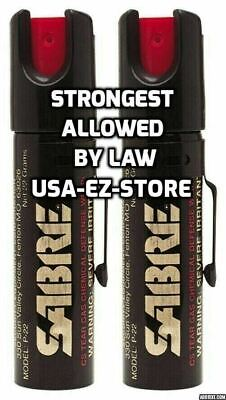 2 Sabre Professional Pepper Spray Self Defense Police Red Pocket Unit SA10022