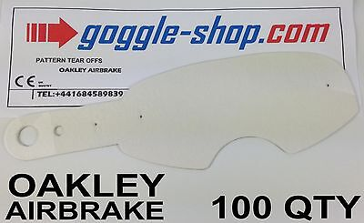 100 qty GOGGLE-SHOP MOTOCROSS TEAR OFFS to fit OAKLEY AIRBRAKE GOGGLES flippers