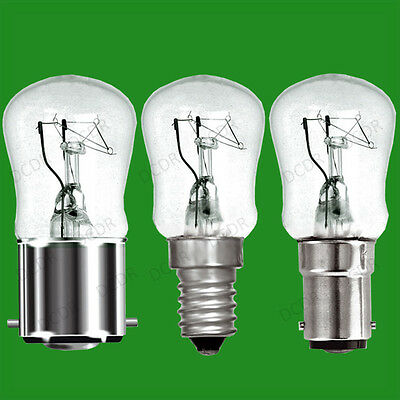 25x 25W Dimmable Clear Pygmy Light Bulbs, BC, B22, SBC, B15d or SES, E14 Lamps