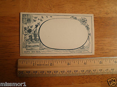 "Vintage 1910's Black Americana advertising card Mosquito 2.5x4.5"" Blotter Dreams"