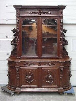 1111045 : Monumental Antique French Renaissance Hunt Cabinet Buffet Sideboard