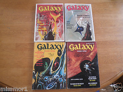 Galaxy Science Fiction 1970-71 Lot of 4 space pulp magazines robots