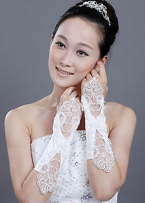 Wedding Beautiful Party Lace Fingerless Formal Long/Short Gloves Xmas day