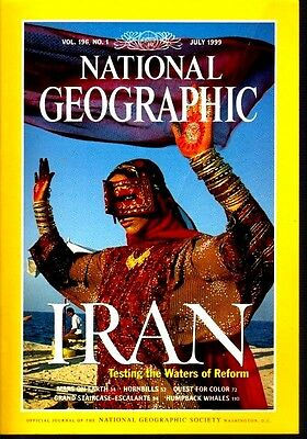 National Geographic Magazine July 1999 Reforms in Iran Mars on Earth Whales 9