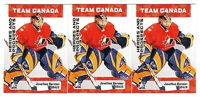 11ct Jonathan Bernier 2006-07 ITG Hockey Heroes Prospects Team Canada Lot #141