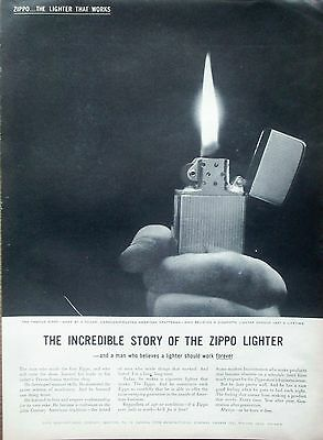 1959 Zippo Lighter Incredible Story Of The Zippo Lighter Believe Work Forever ad