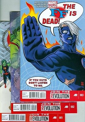 FF #1, #2 and #3 VF/NM Marvel Now